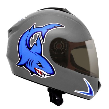 Capacete Fly Fun Baby Shark - Prata/Azul