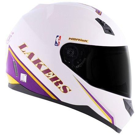 Capacete Norisk FF391 Nba Los Angeles Lakers - Branco/Roxo