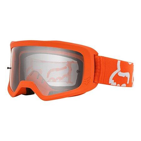Óculos Fox Main II Race - Laranja Fluor/Branco