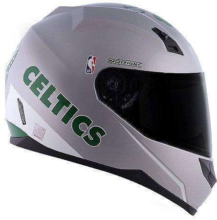Capacete Norisk FF391 Nba Boston Celtics - Prata/Verde