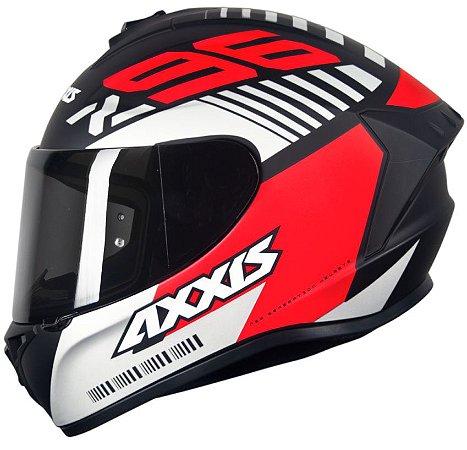 Capacete Axxis Draken Z96 - Preto/Vermelho Fosco