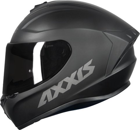 Capacete Axxis Draken Monocolor -  Preto Fosco