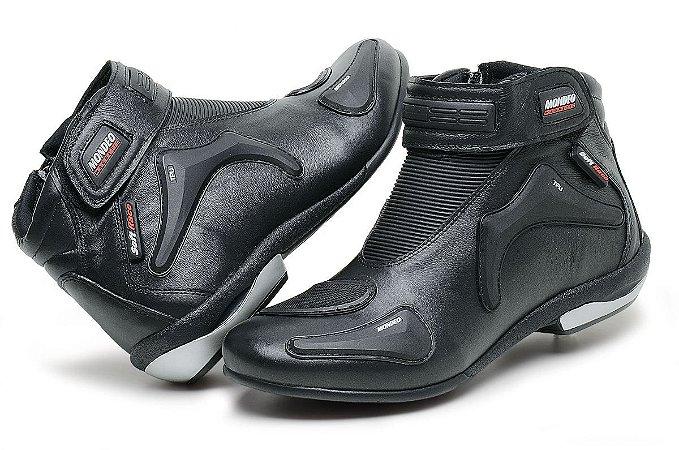 Bota Mondeo Couro Custom Soft Race Slim 5555 Motociclista