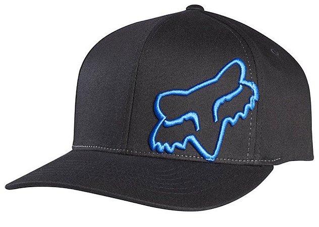 Boné Fox Flex 45 Flexfit 16 - Preto/Azul