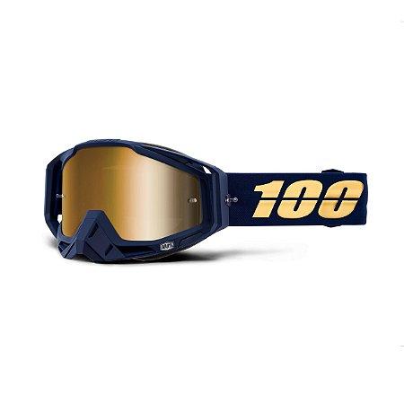 Óculos 100% Racecraft Bakken - Azul/dourado