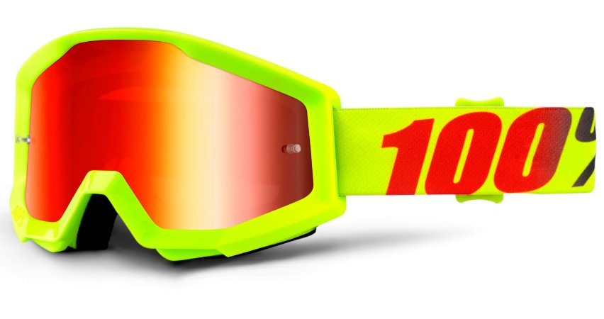 Óculos 100% Strata Mercury - Amarelo Flour/Laranja