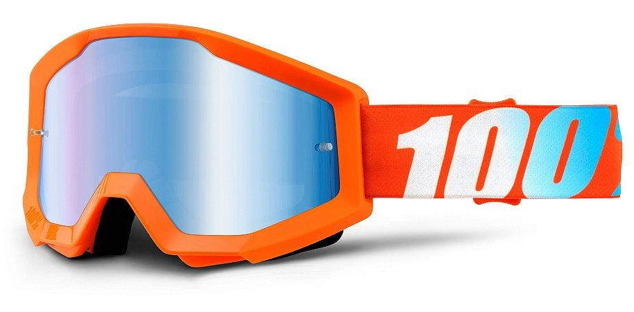 Óculos 100% Strata - Laranja/Azul