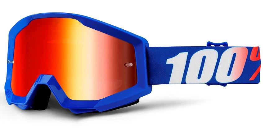 Óculos 100% Strata Nation - Azul/Laranja