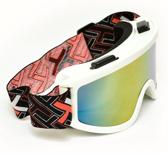 Oculos Motocross Mattos Branco Lente Espelhada Cross Ttrilha