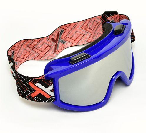 Óculos Motocross Mattos Azul Lente Espelhada Trilha Cross