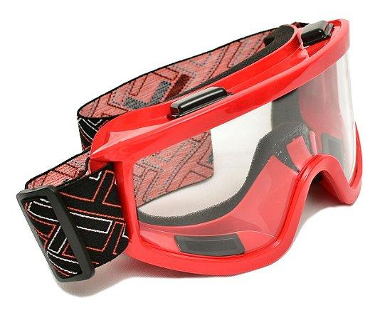 Óculos Motocross Mx Mattos Vermelho Cross Trilha