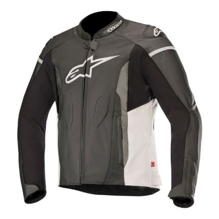 Jaqueta Alpinestars Faster Leather - Preto/Branco