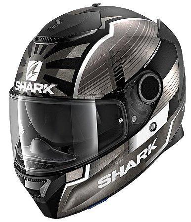 Capacete Shark Spartan Zarco Malasyan GP - Preto/Cinza/Branco