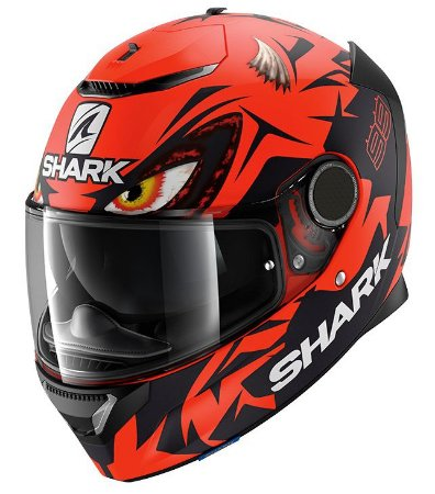 Capacete Shark Spartan Lorenzo Austrian GP - Preto/Vermelho Fosco
