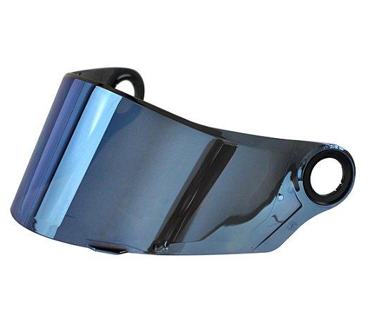 Viseira Espelhada Iridium Azul Capacete Ls2 Ff358 ff396 orig