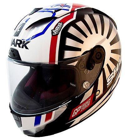 Capacete Shark Race-R Pro Zarco GP France - Branco/Preto/Vermelho