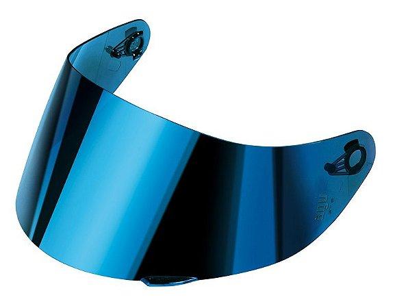 Viseira Azul Espelhada Capacete Agv K3  Sv K1 Original