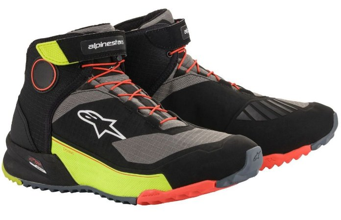 Bota Alpinestars CRX Drystar - Preto/Amarelo/Laranja