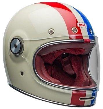Capacete Bell Bullitt Command Vintage - Branco/Vermelho/Azul