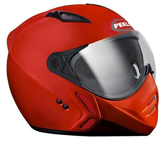 Capacete Mirage Peels Vermelho Brilho Óculos Interno F21