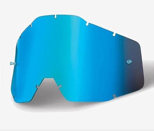 Lente Oculos Motocross 100% Racecraft Accuri Strata Azul