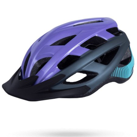 Capacete Asw Bike Fun Roxo Preto Bicicleta Montain Bike