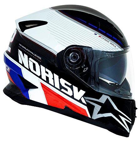 Capacete Norisk ff302 Grand Prix France Azul Vermelho