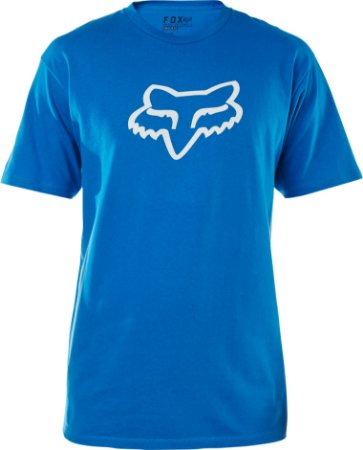 Camiseta Fox Legacy Head Azul Sem Costura Lateral Original