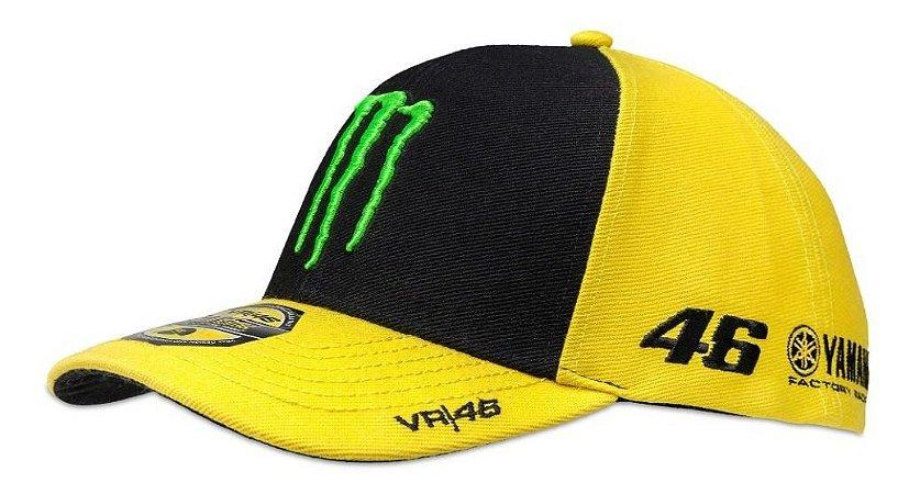 Boné Vr 46 Sponsor Valentino Rossi Amarelo Preto Original