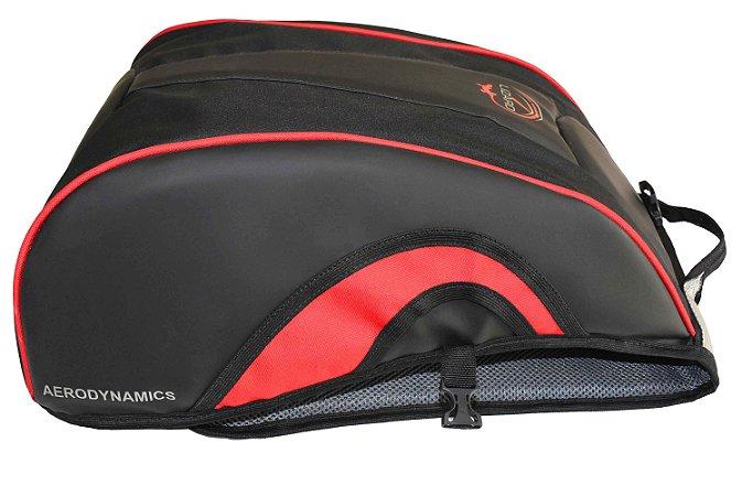 Mochila Aerodinamic Moto Motociclista Porta Capacete Vermelh