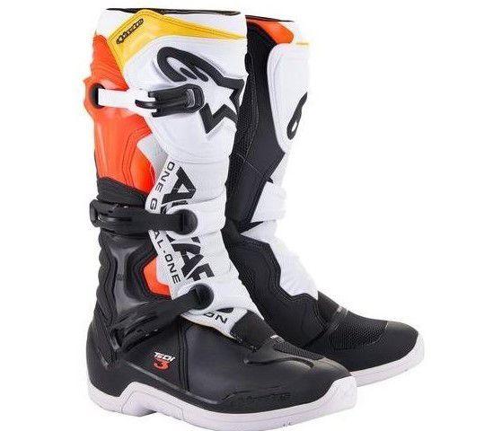 Bota Motocross Alpinestars Tech 3 Amarelo Branco Cross
