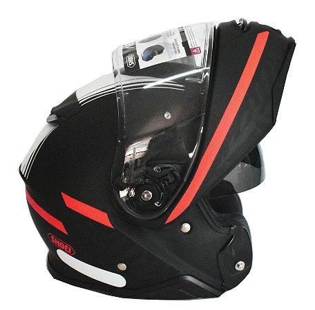 Capacete Shoei Neotec II Separator TC5 Escamoteavel Robocop