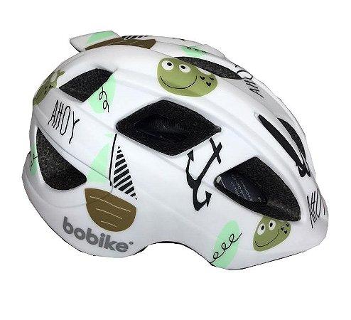 Capacete Bike Infantil Bobike Kids Ahoy Branco Verde