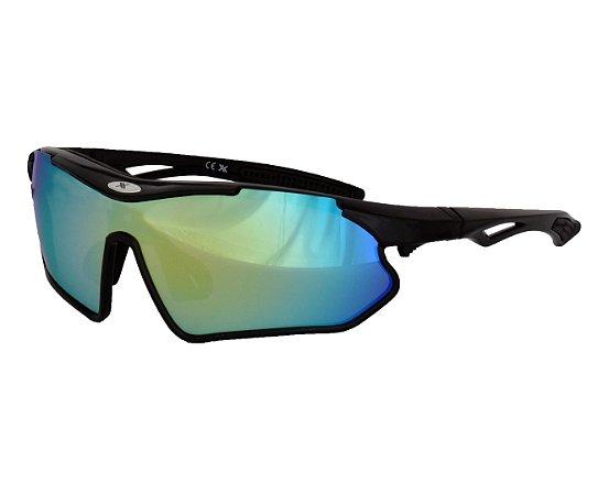 Óculos Bike Mattos Vision Preto Lente Espelhado + Fotocromatica