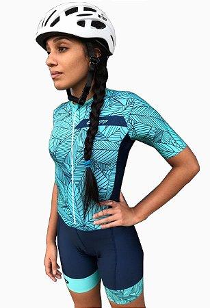 Macaquinho Ciclismo Feminino Verano Verde Água Ciclopp Bike