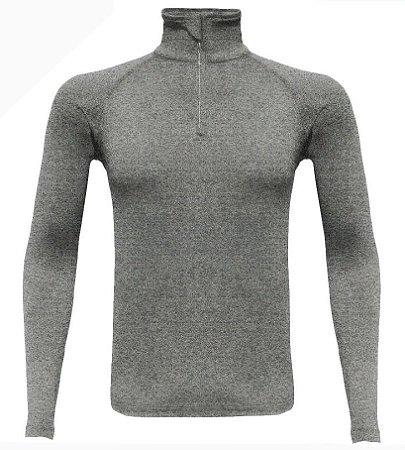 Blusa Segunda Pele Masculina Ultra Go Ahead Inverno Cinza