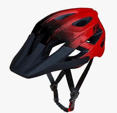 Capacete Asw Bike Accel Dots Vermelho Bicicleta Montain