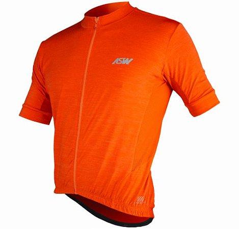 Camisa Ciclismo Bike Asw Essentials Laranja Masculina