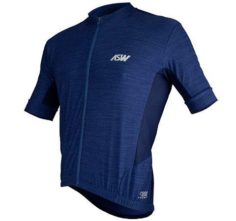 Camisa Ciclismo Bike Asw Essentials Azul Marinho Masculina