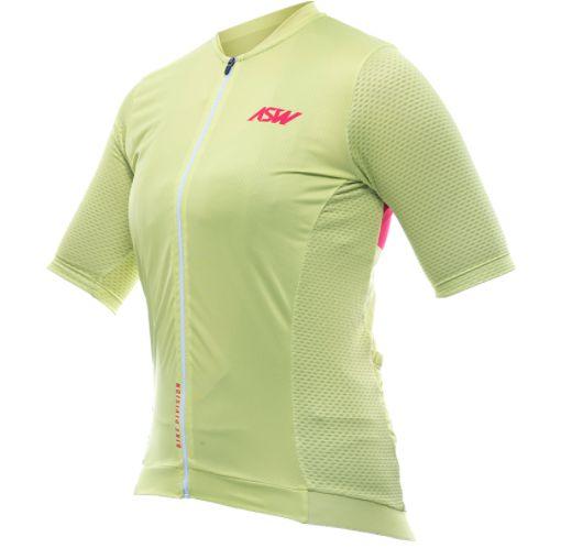 Camisa Ciclismo Bike Asw Endurance Streak Feminina Verde