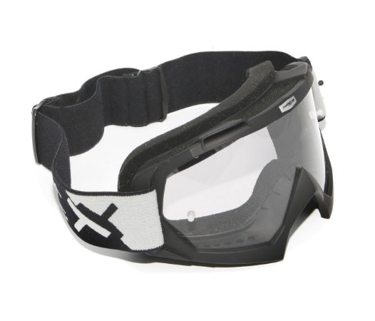 Oculos Motocross Mattos Racing Combat Preto Lente Cristal