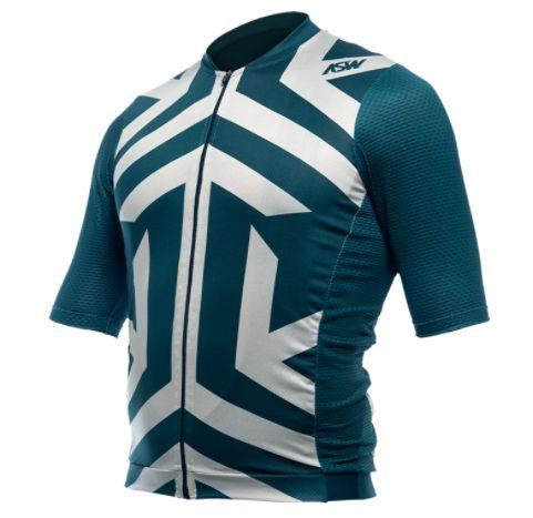 Camisa Ciclismo Bike Asw Endurance Drazed Branco Verde