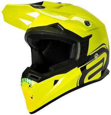 Capacete Motocross Cross ASW Core Legacy Amarelo Fluo Preto