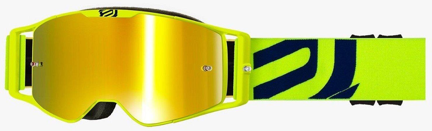 Óculos Asw A3 Giant Amarelo Cross Motocross Trilha Enduro
