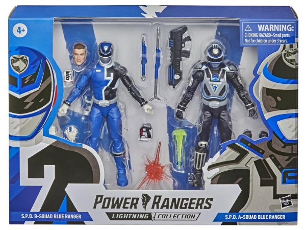 Power Rangers Lightning Collection S.P.D. B-Squad VS A-Squad Blue Ranger Two-Pack