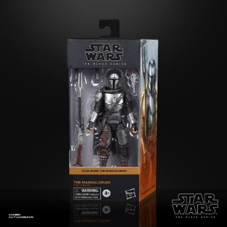 "Star Wars: The Black Series 6"" The Mandalorian (Beskar Armor) Entrega em novembro"