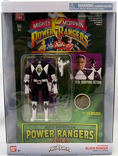 Power Rangers Legacy black Ranger Head Morph Figure