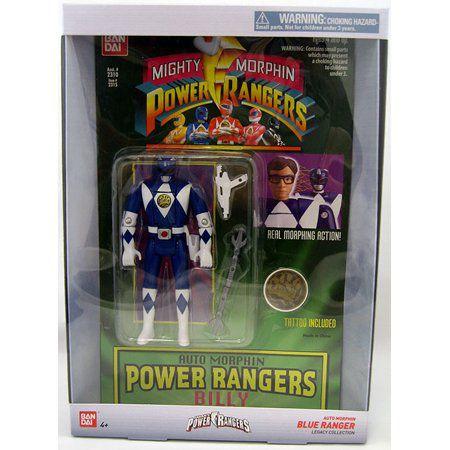 Mighty Morphin Power Rangers Legacy blue Ranger Head Morph Figure
