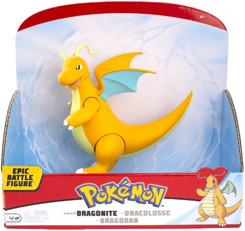 "Pokémon 12"" Epic Battle Figure - Dragonite entrega em 30 dias"