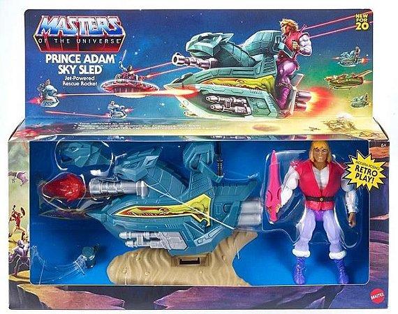 Masters of the Universe: Origins Prince Adam and Sky Sled Pronta entrega